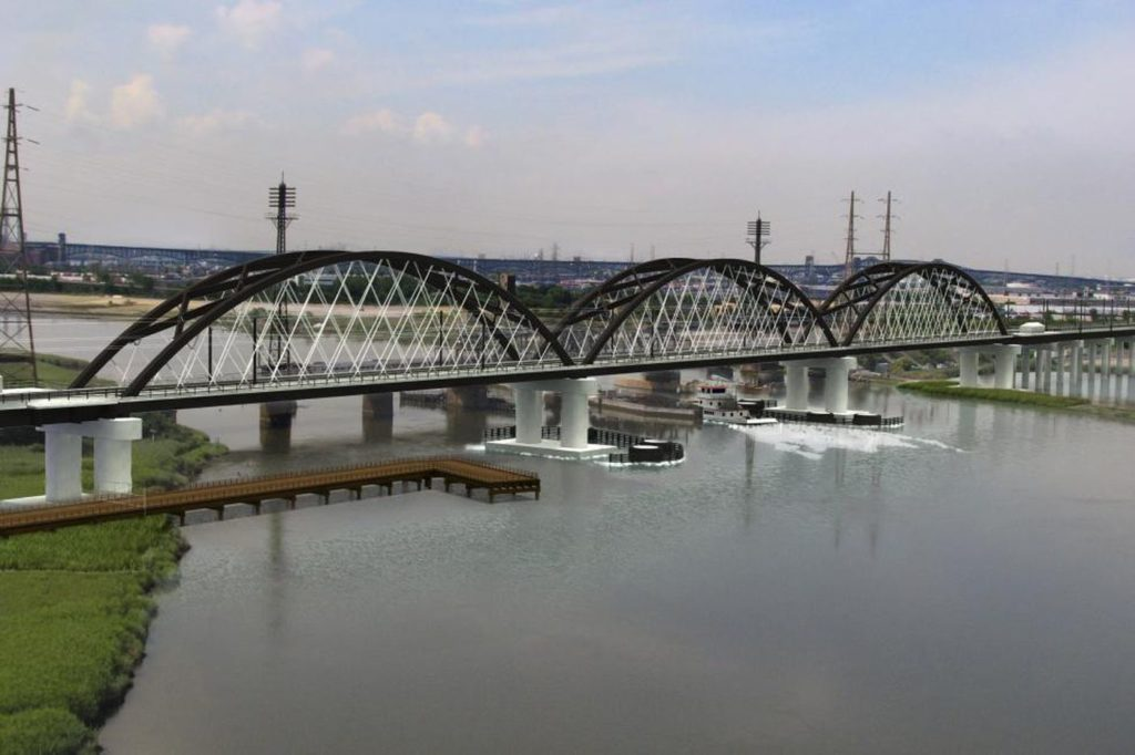 June 21, 2018 - New Jersey Transit (and Amtrak) face a July 14 deadline for getting the Federal Transit Administration to approve their latest revised financial plan for the replacement of the Portal North Bridge, the first project of the $30+ billion Gateway Program of passenger rail projects in New York and New Jersey. The revised financial plan will take advantage of $600 million in state bonds approved by the state Economic Development Authority and the New Jersey Transit Board of Directors last week.