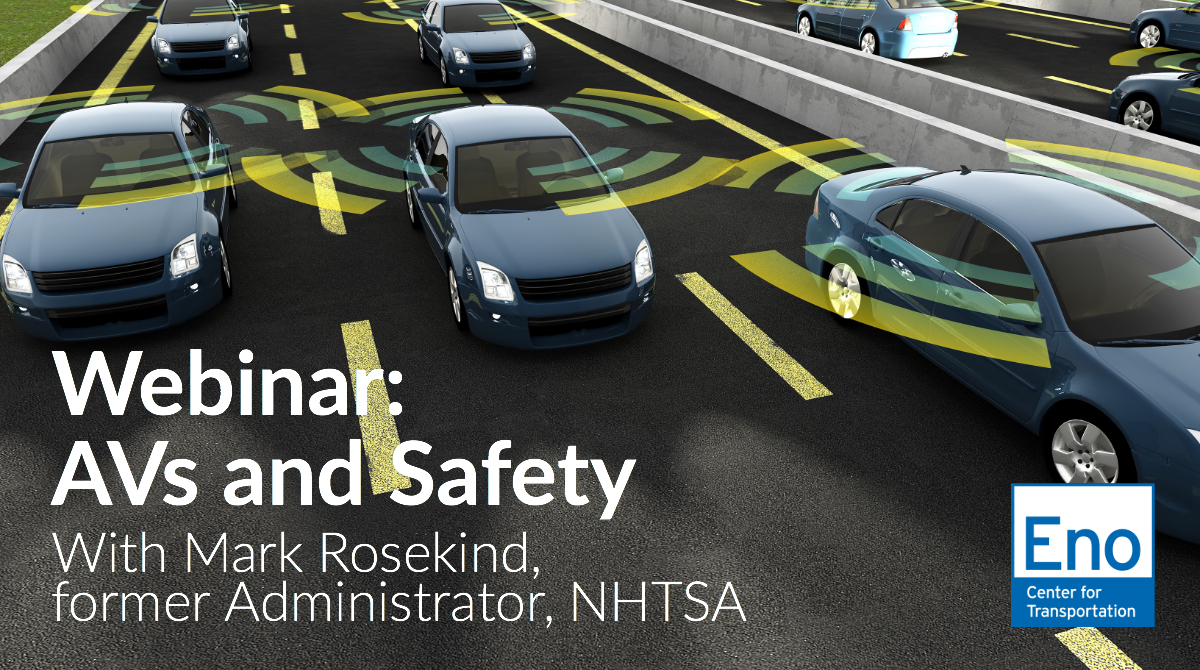 Webinar: AVs and Safety