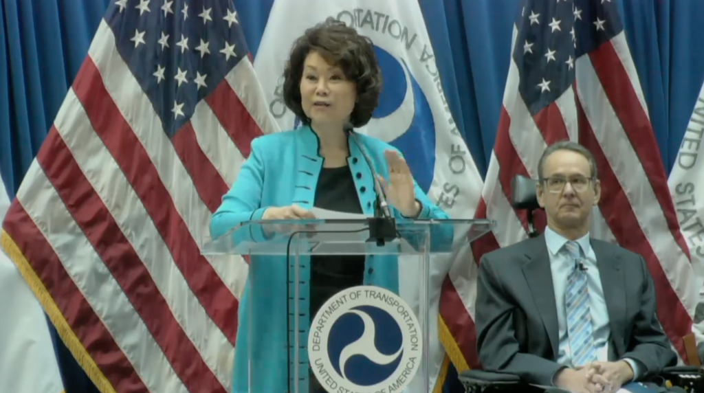 October 4, 2018 - At a public event this morning, Transportation Secretary Elaine Chao released her department's long-awaited