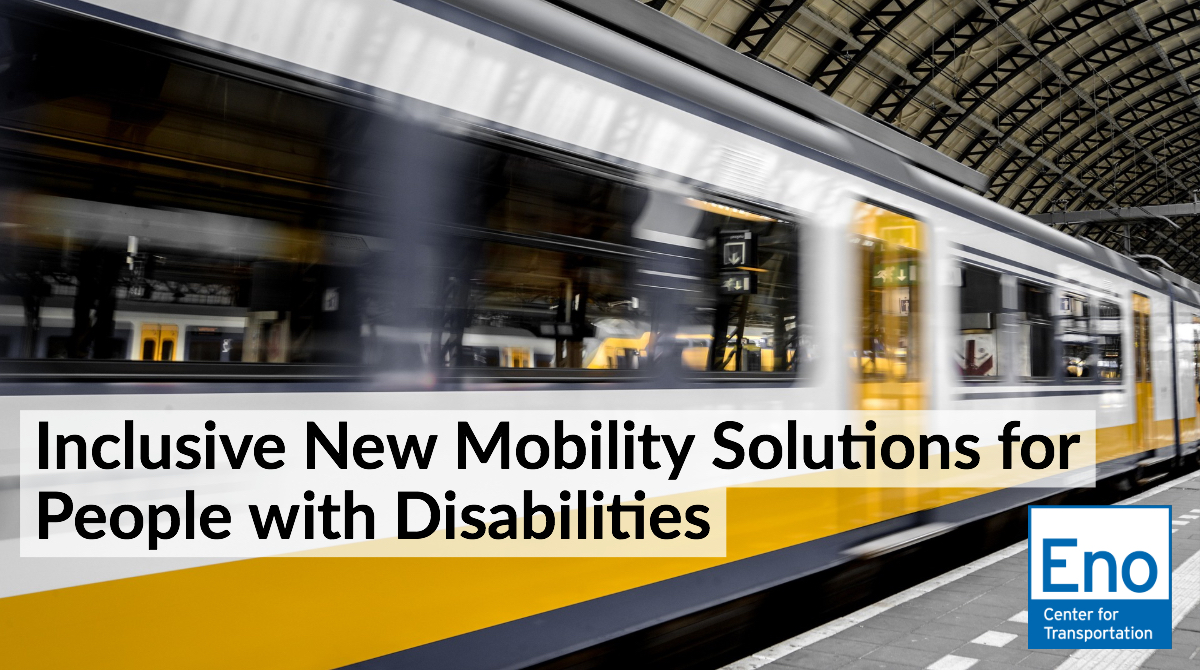 Webinar: Inclusive New Mobility Solutions for People with Disabilities