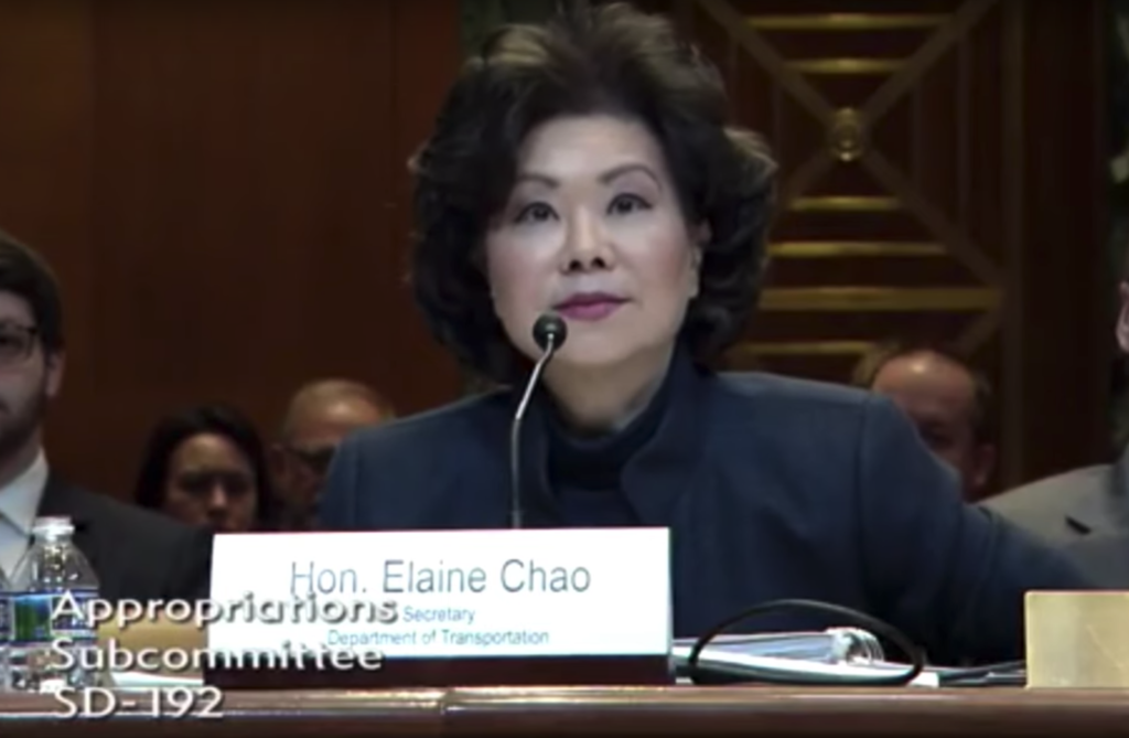 March 28, 2019 - The Senate subcommittee on Transportation, Housing and Urban Development, and Related Agencies held a hearing on March 27 inviting Secretary of Transportation, Elaine Chao as a witness to review the FY20 budget request for USDOT.
