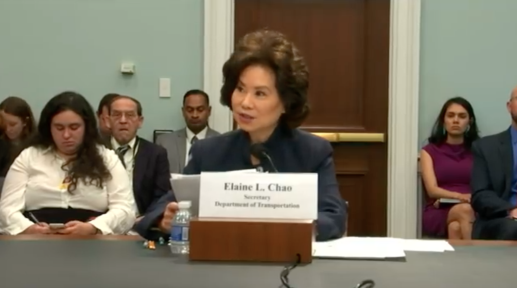 April 12, 2019 - U.S. Transportation Secretary Elaine Chao made her annual trip to the House Appropriations Committee this week to defend the Trump Administration's fiscal 2020 budget request for USDOT.