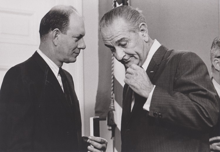 Secretary Boyd and President Johnson, year unknown. Photo courtesy of the Boyd family.
