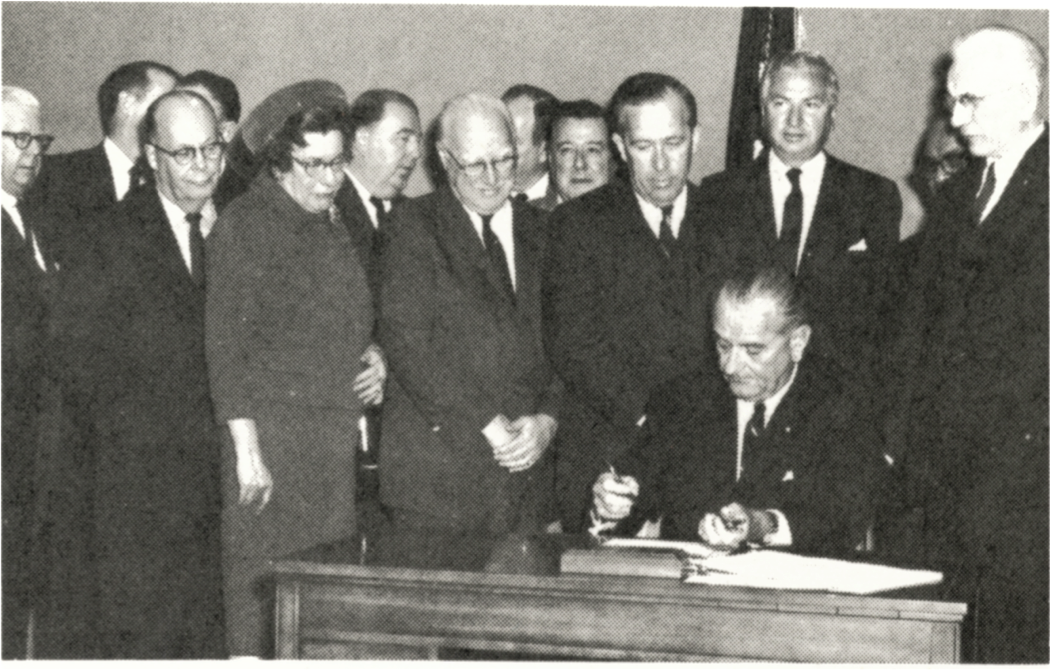 Image result for president johnson signed a bill creating the department of transportation